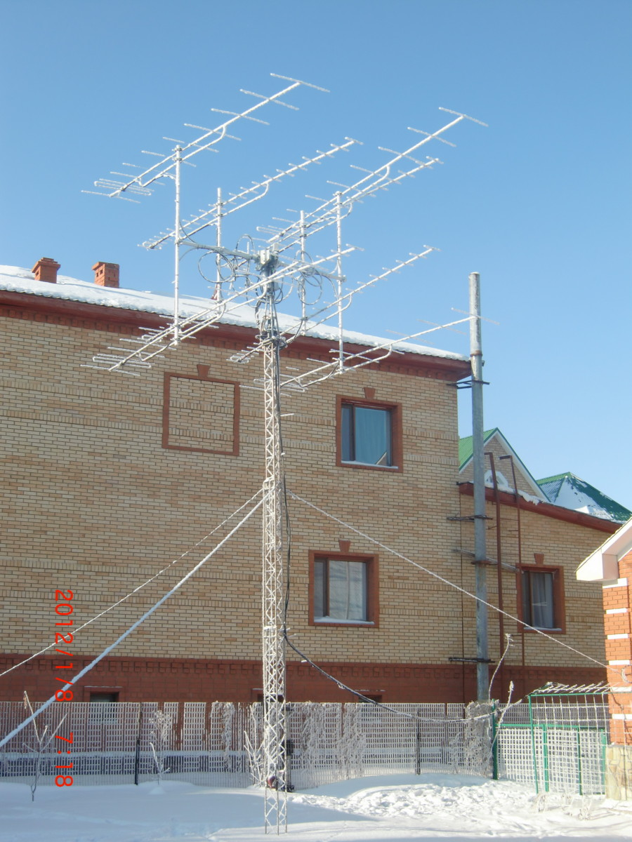 Antenna in winter